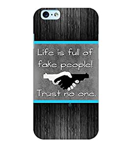 ColourCraft Quotes Back Case Cover for APPLE IPHONE 6