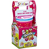 Snackeez Shopkins 2 In 1 Snack And Drink Cup (Pack Of One Cup, Colors And Designs Vary) (Pink)
