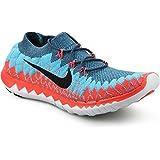 Nike Free 3.0 Flyknit Men's Running Shoes Blue/Orange/Red/Multi 10.5 D(M) US