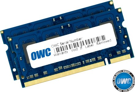 OWC 4GB ( 2x2GB ) PC2-5300 DDR2 667MHz SODIMM 200 Pin Memory Upgrade Kit For all Apple MacBook, MacBook Pro, iMac, Mac Mini 2GHz, 2.1GHz, 2.2GHz, 2.4GHz, 2.5GHz, 2.6GHz, & 2.8GHz Core 2 Duo models Model OWC53C4DDR2P4GB
