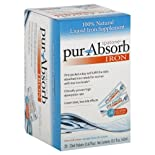 Spatone Pur-Absorb Iron, EZ-Open Water Packets 28 - 0.67 fl oz (20 ml) pkts [18.7 fl oz (560 ml)]