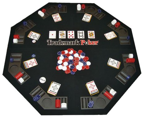 Check Out This Trademark Poker Texas Traveller Table Top & Chip Travel Set