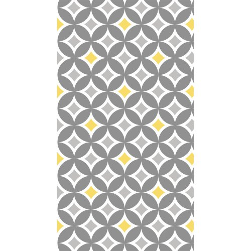 Coordinate 3-Ply Buffet Napkins, Silver & Yellow Diamond
