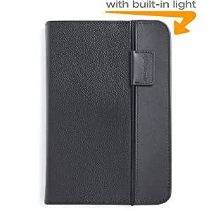 Kindle Keyboard Lighted Leather Cover, Black
