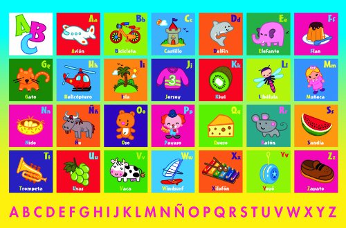 Ceaco Spanish Alphabet-24 Piece Floor Puzzle