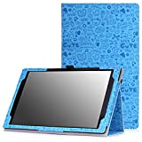 MoKo Case for Fire HD 10 - Slim Folding Cover with Auto Wake / Sleep for Amazon Kindle Fire HD 10.1 Inch Display Tablet (2015 Release Only), Cutie Charm BLUE