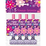 Birthday Blossom Party Blowers, 8ct