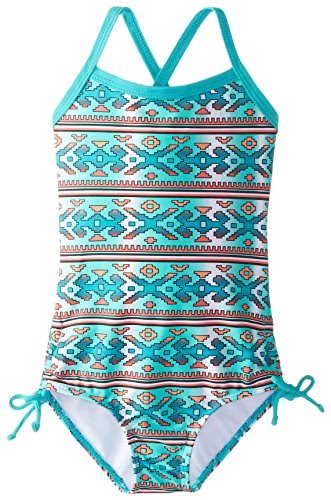 Kanu Surf Baby Girls' Kimi Geo 1 Piece Swim, Green, 18 Months