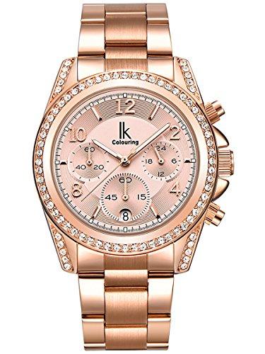 alienwork-quartz-watch-multi-function-wristwatch-stylish-rhinestone-metal-rose-gold-rose-gold-k001ga