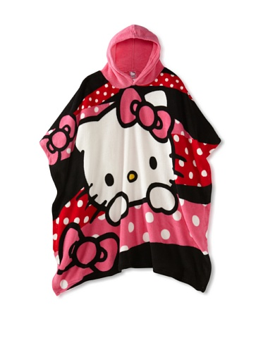 Hello Kitty Hooded Poncho Big Girl front-897835