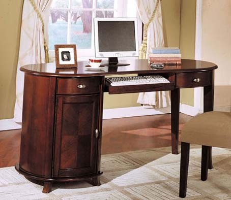 Buy Low Price Comfortable Home Office Computer Desk Cherry Brown Finish (B000XPS5E0)