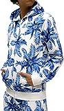 (マルカワジーンズパワージーンズバリュー) Marukawa JEANS POWER JEANS VALUE 上下セット メンズ セットアップ トレーニングウェア 花柄 3color L ブルー