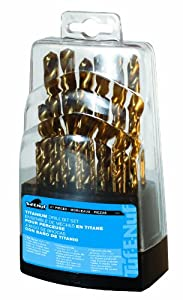 Task Tools 09021 21-Piece Tuf-E-Nuf Titanium-Coated HSS Drill Bit Set, 1/16-Inch Through 3/8-Inch Bits In Plastic Case at Sears.com