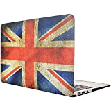 "Topideal Vintage Union Jack Pattern Matte Rubber Coated Hard Shell Case Cover for 13-Inch MacBook Air 13.3"" (Model A1369 / A1466) - Flag of UK"