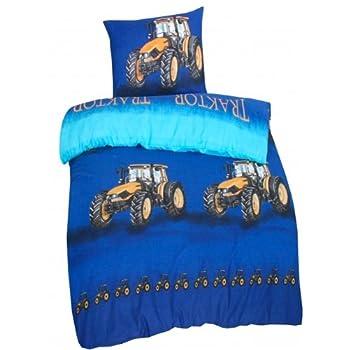 pas cher parure linge de lit housse de couette avec rabat taie d oreiller enfant tracteur. Black Bedroom Furniture Sets. Home Design Ideas