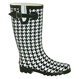 Houndstooth Rain Boots - Black/ White : Target from target.com