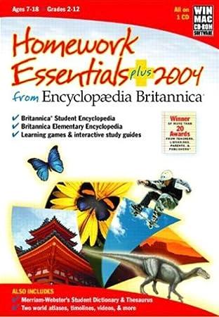 Encyclopaedia Britannica Homework Essentials Plus 2004