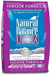 Natural Balance Indoor Ultra Premium, Dry Cat Food, 15-Pound Bag