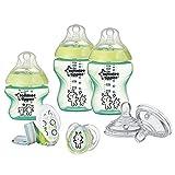 Tommee Tippee Closer to Nature - Set básico para recién nacido, diseño de conejo, color verde, sin BPA
