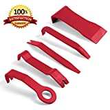 Panel Removal Tool - 5 pcs Premium Auto Trim Upholstery Removal Kit. Easiest to Use Fastener Remover for Door Trim Molding Dash Panel. The Last Pry Bar Scraper You Will Ever Buy. 100% Satisfaction Guaranteed.