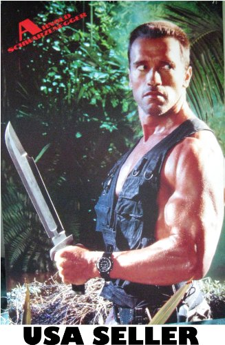 Arnold Schwarzenegger Poster 21 X 31 Big Knife From Predator Era (Poster Sent From Usa In Pvc Pipe)