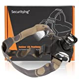 SecurityIng® Zoomable CREE XM-L T6 LED 1600Lm LED Rechargeable Li-Po Headlamp Headlight