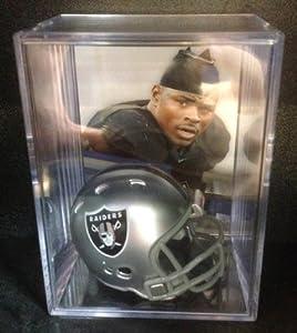 Oakland Raiders NFL Draft Helmet Shadowbox w  Khalil Mack card by Riddell