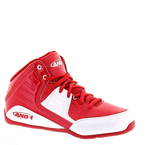 AND 1 Rocket 4.0 Skate Shoe, Red/White/Red, 6.5 M US Big Kid
