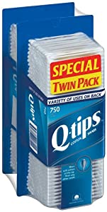 Q-tips Cotton Swabs - 1,500ct. (Two - 750ct. Boxes)