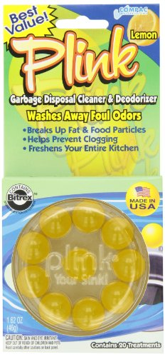 Best Review Of Compac Plink Garbage Disposal Cleaner and Deodorizer, Lemon, 20 Count