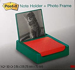 Post-it 3 x 3 Inches Note Holder with Photo Frame, Emerald Green by Post-it