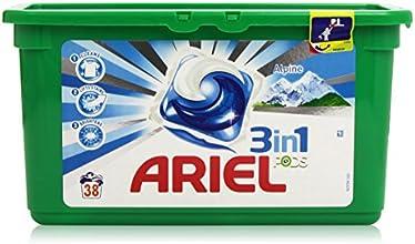 ARIEL Lessive 3 en 1 Pods Alpine 38 Capsules