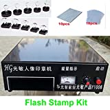 Tool Parts 220V Photosensitive Portrait Flash Stamp Machine KIT Self-inking Stamping Making Seal Holder Film Pad (NO Ink)