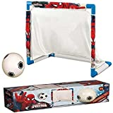 DISNEY CARTOON CHARACTER CHILDRENS KIDS MINI FOOTBALL SOCCER GOAL POST NET SET BALL INDOOR OUTDOOR GAME GIFT (Marvel Comics Spiderman)