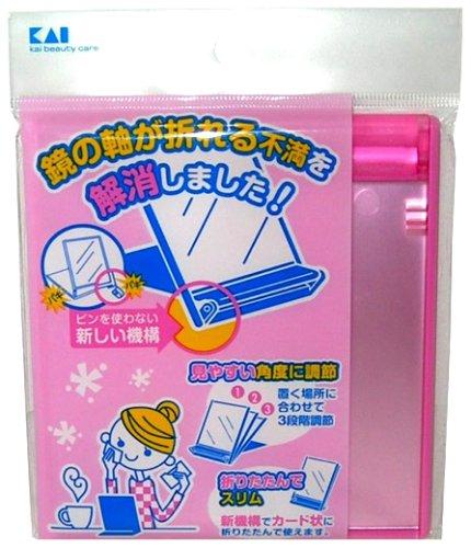 貝印 軸が割れにくいミラーM ピンク KQ0950