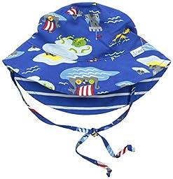 i play. Baby Reversible Bucket Sun Protection Hat, Royal Viking Sea, 9/18 Months