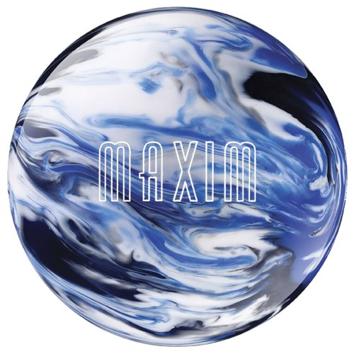 Ebonite Maxim Captain Midnight Bowling Ball, White/Blue/Black, 10