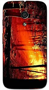 Timpax protective Armor Hard Bumper Back Case Cover. Multicolor printed on 3 Dimensional case with latest & finest graphic design art. Compatible with Motorola Moto -G-2 (2nd Gen )Design No : TDZ-28607
