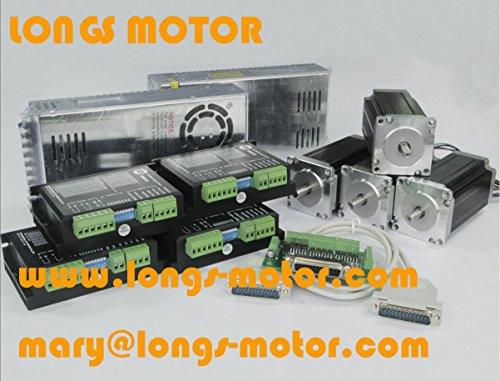 4 axis Nema 23 stepper motor 425 oz.in & Driver DM542A, peak 4.2A CNC kit (Stepper Motor Nema 23 Kit compare prices)