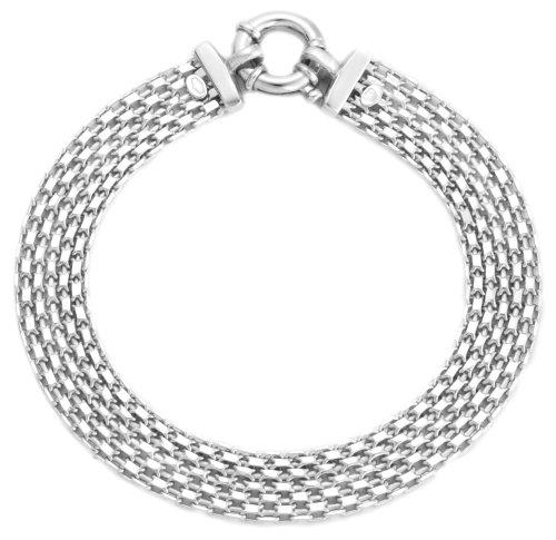 Bismark Large Ring Bracelet, 9ct White Gold, 19cm Length, Model 5.22.9972