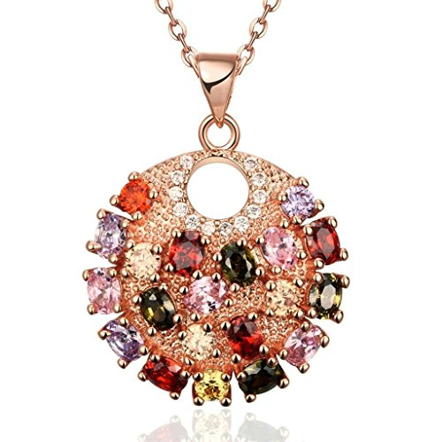 amdxd-jewelry-gold-plated-women-pendant-necklace-multicolor-rose-gold-round-shapedgift-for-girls