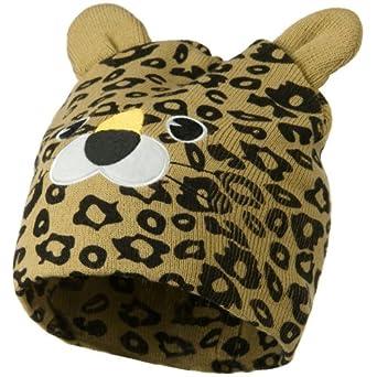 Cute Animal Beanie - Leopard OSFM