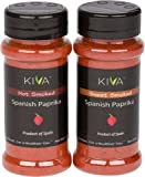 (2 PACK) HOT + SWEET SMOKED - Kiva Gourmet Spanish Paprika -From The Famous La Vera Region of Spain - 4 oz Total WT