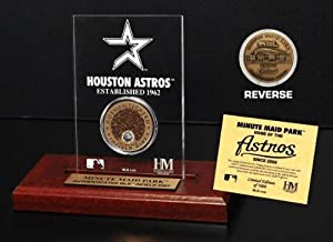 Highland Mint MLB Houston Astros Minute Maid Park Infield Dirt Coin Etched Acrylic by Highland Mint