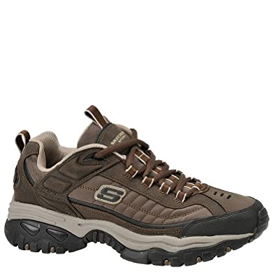 Skechers Men's Energy Downforce Brown Oily Lthr/Taupe Trm 6.5 M US