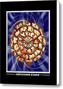 Exploding Clock Canvas Print / Canvas Art - Artist Mike McGlothlen