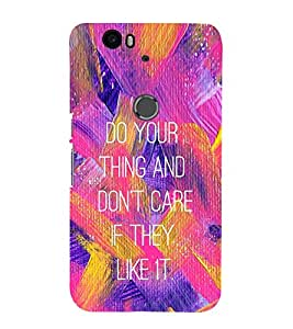 EPICCASE Don't Care Mobile Back Case Cover For Huawei Nexus 6P (Designer Case)