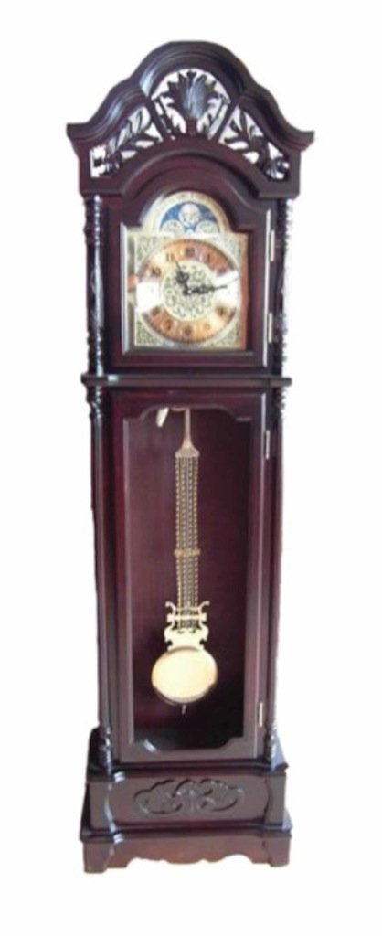 Transcontinental Group 60 x 29.5 x 206 cm Indoor Wooden Grandfather Clock, Wood Colour       Customer review and more information