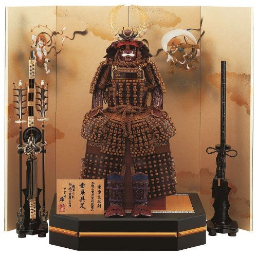 Dolls dolls armor ornament [Rin koshien Oyama made] [10, Tokugawa leather scales] flat ornament [Ieyasu Tokugawa] meisho armor may
