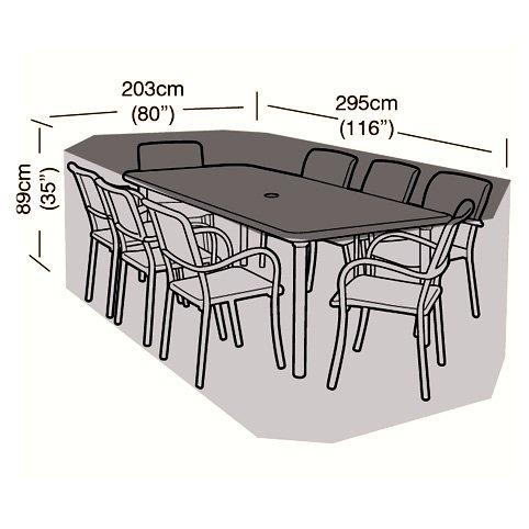 Gartenmöbel-Set für 8 Personen, rechteckig, mit Abdeckung, 300 cm jetzt bestellen